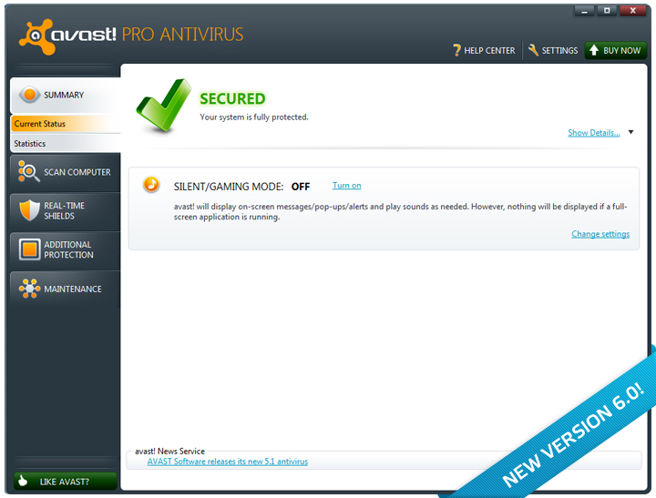 avast! Pro Antivirus screenshots